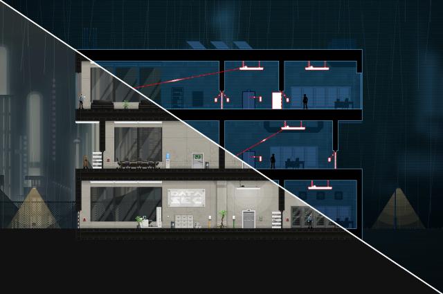 Illustration av standard- och hacking-vyerna.